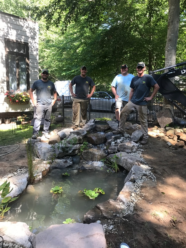 New water garden construction in rocky mount nc for Water garden construction